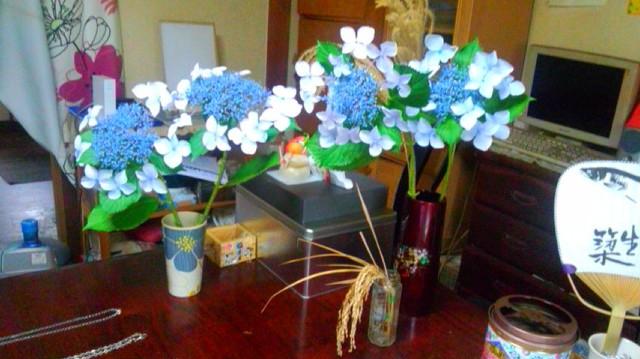 花を生けました…