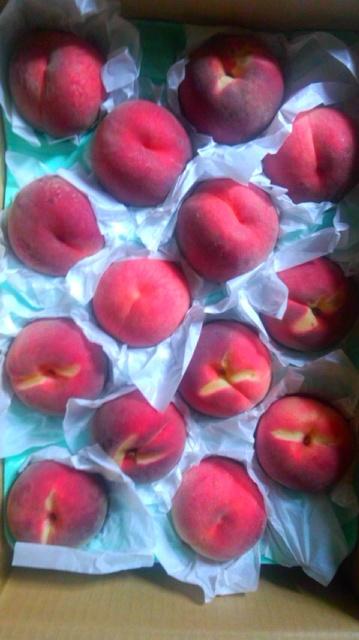 信州の桃が届きました…